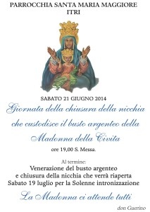 Madonna della Civita_chiusura nicchia 2014