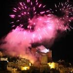 I fuochi della Civita. Spettacolo pirotecnico al castello - foto Manzi Y.