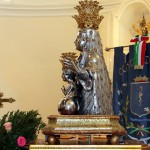 Il busto argenteo esposto nella chiesa di S. Angelo - foto Manzi Y.