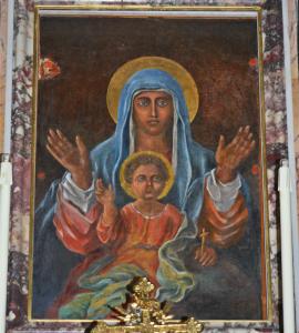 L'antico quadro di Maria Ss.ma della Civita venerato nel santuario di Itri - foto Meroli N.