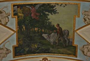 Tela raffigurante l'apparizione al pastorello sordomuto sul Monte Fusco - foto Meroli N.