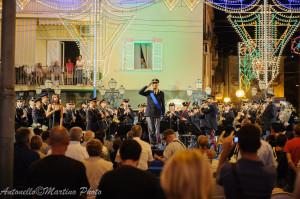 Esibizione della banda musicale della Polizia di Stato la sera del 21 luglio 2013 - foto Martino A.