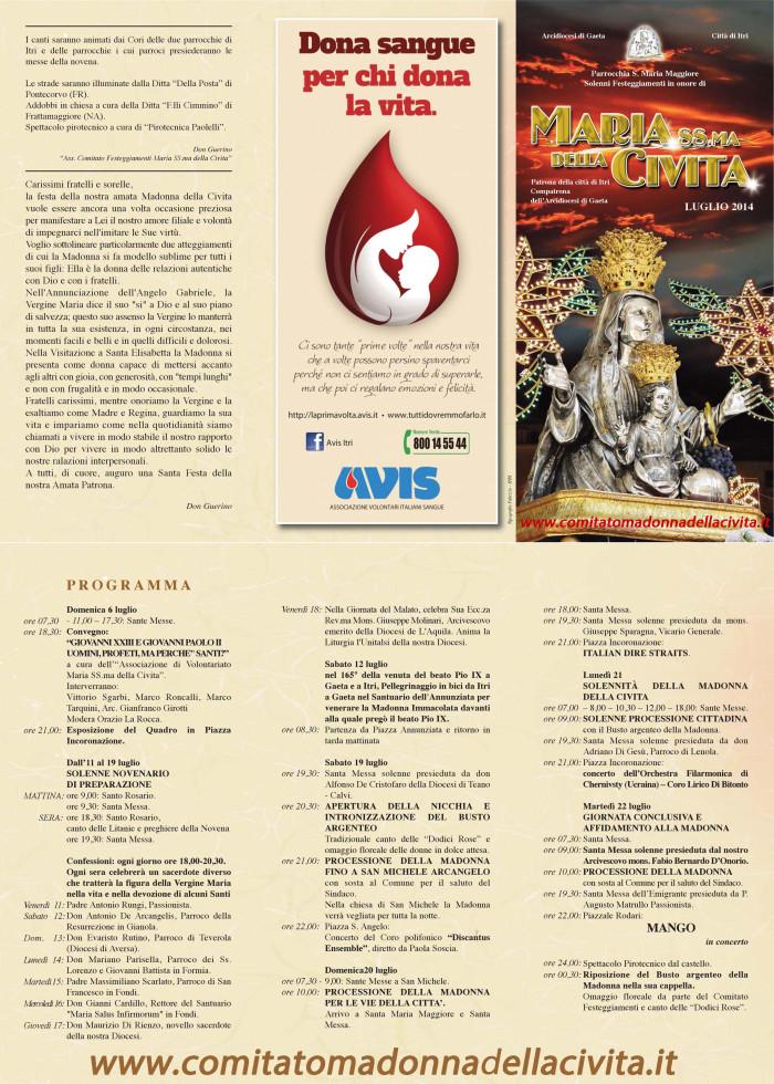 Madonna della Civita_Programma2014