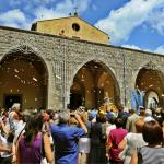 La processione del 20 luglio rientra in chiesa - foto Martino A.