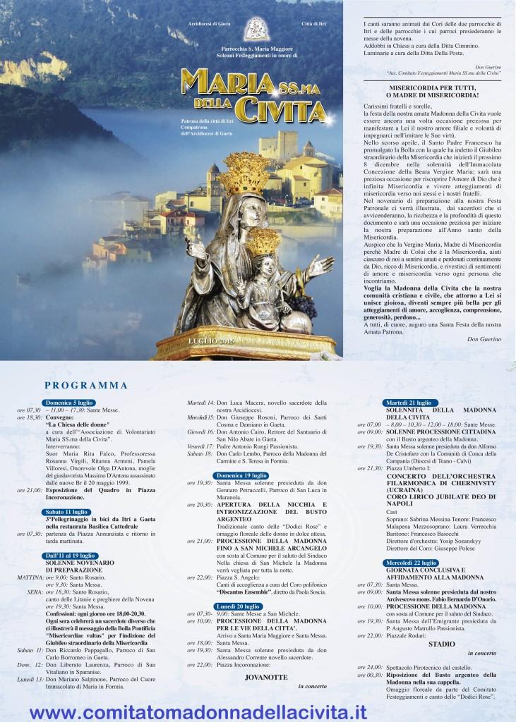programma_Madonna della Civita 2015